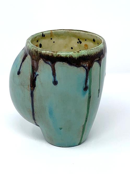 Smooth Green and Chocolate Hand Warmer Mug