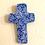 Thumbnail: Blue and Bronze Sculpted Cross