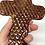Thumbnail: Black + Brown Chiseled Wall Cross