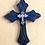 Thumbnail: Midnight Blue Sculptured Wall Cross