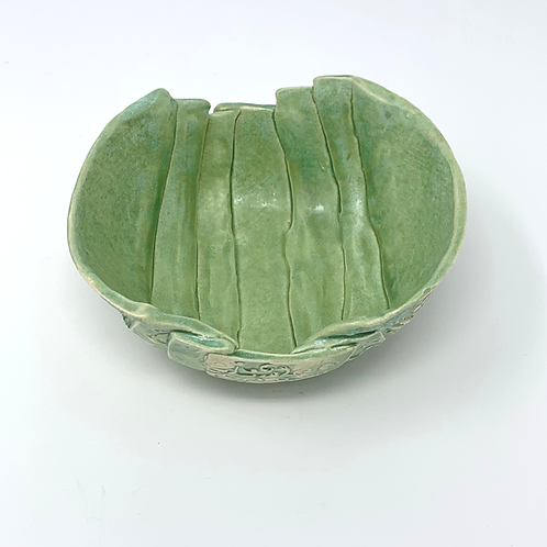 Fresh Green Layered and Textured Bowl