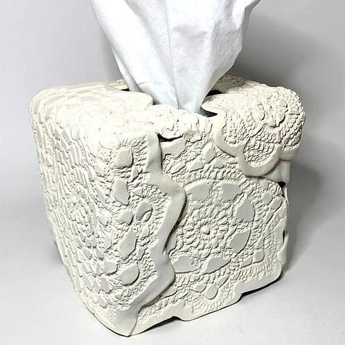 White Bisque Tissue Box Decor