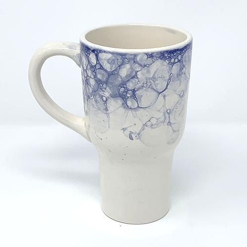 Deep Blue Bubble-Top Travel Mug #1 with Lid