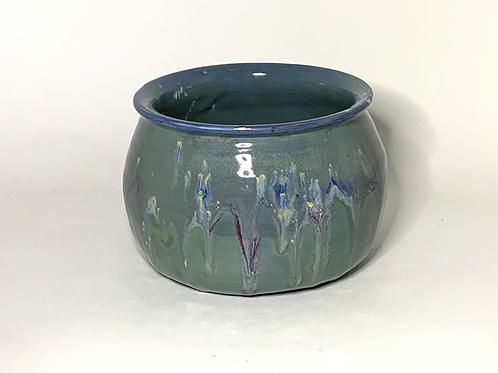 Soft Blue Drippy Glaze Bowl