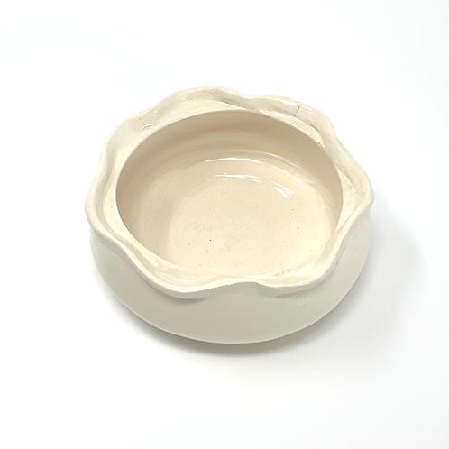 White Gloss Fluted Bowl