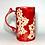 Thumbnail: Crimson Red Lace Coffee Mug