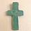 Thumbnail: Patina Green Carved Wall Cross with Hearts