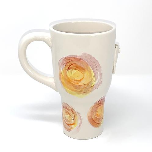 Yellow Sun Swirls Spring Collection Travel Mug