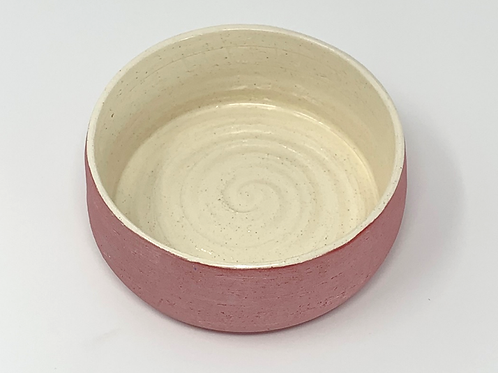 Raspberry Matte and Natural Glazed Bowl
