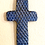 Thumbnail: Blue + Bronze Carved Wall Cross