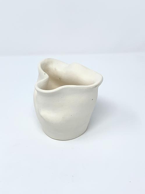 Organic White Bisque Vase