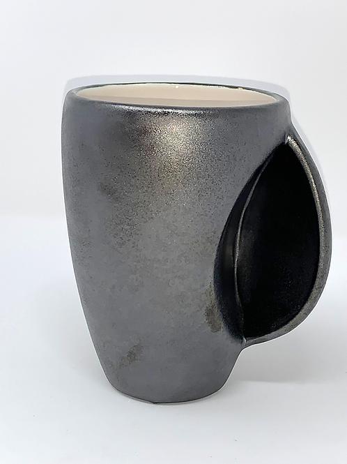 Velvety Black Textured Hand Warmer Mug