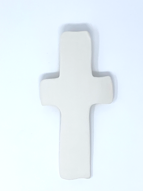 Smooth Natural Bisque Wall Cross