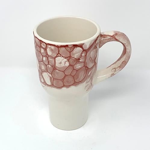 Deep Brick Red Bubble Travel Mug with Lid #3