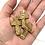 """Thumbnail: 10 Brown Ceramic """"Pocket Crosses"""" in Organza Gift Bag"""