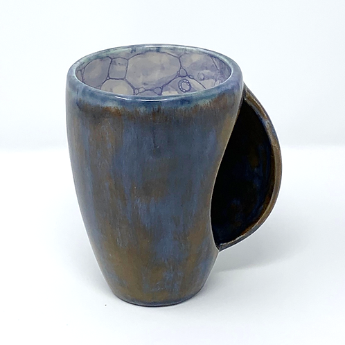 Blue and Bronze Hand Warmer Mug