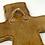 Thumbnail: Warm Oak Chiseled Wall Cross