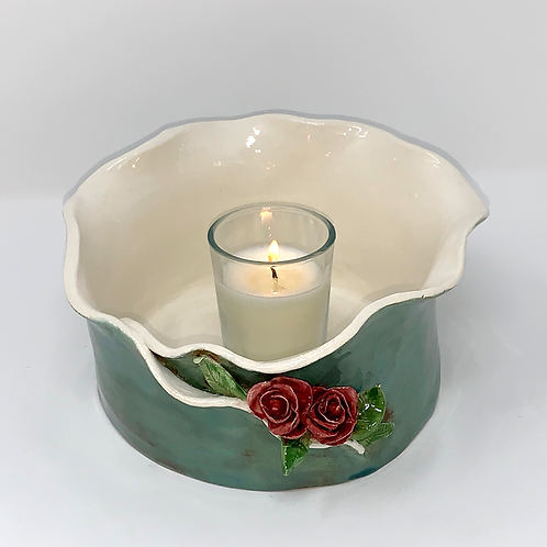 Sea Green and Rose Luminary and Planter