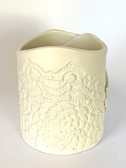 White Bisque Luminary, Vase or Planter