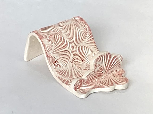 Red Patterned Cell Phone Holder