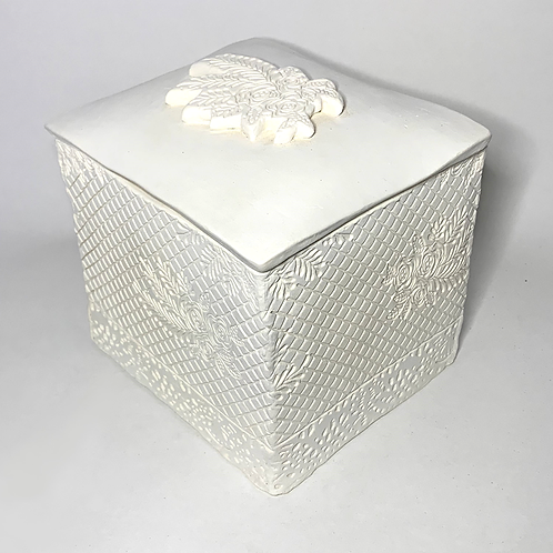 White Bisque Jewelry Box