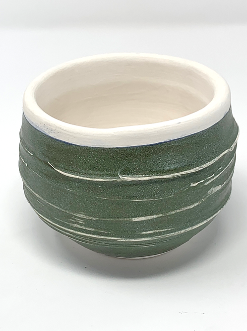 Mossy Green Cup or Small Planter