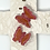 Thumbnail: Carved White Bisque Cross with Butterflies