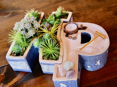 Monogram Planters!  Can be used for plants, Zen gardens, candles, jewelry, etc!
