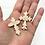 """Thumbnail: 10 Rose Ceramics """"Pocket Crosses"""" in Organza Gift Bag"""
