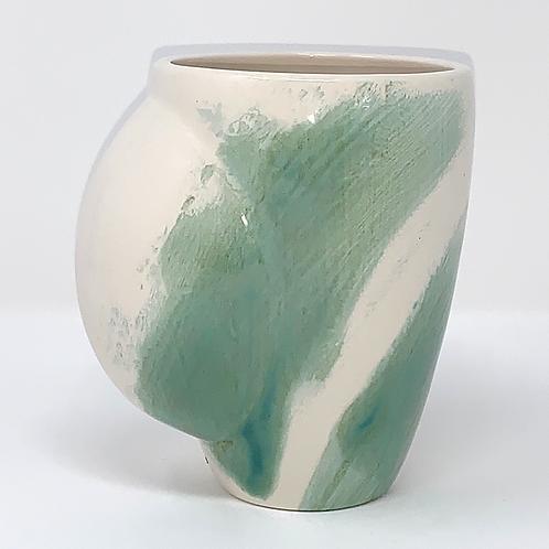 Soft Green Wispy Hand Warmer Mug