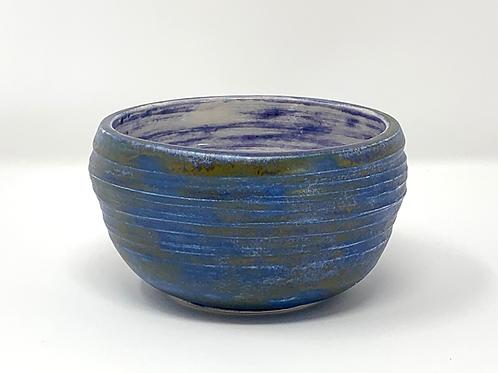 Blue + Bronze Small Swirl Bowl
