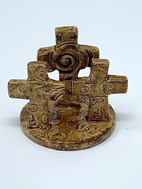 Mini Calvary Crosses - Warm Oak