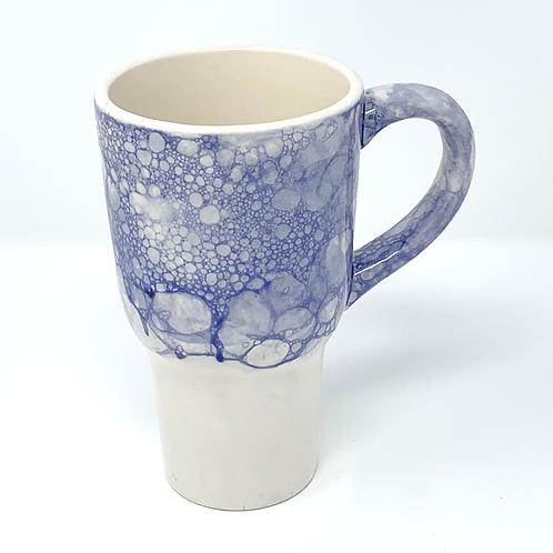Deep Blue Bubble-Top Travel Mug #2 with Lid