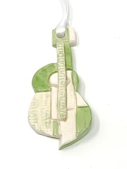 Green Guitar Ornament