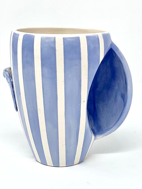 Blue Striped Spring Collection Pocket Mug