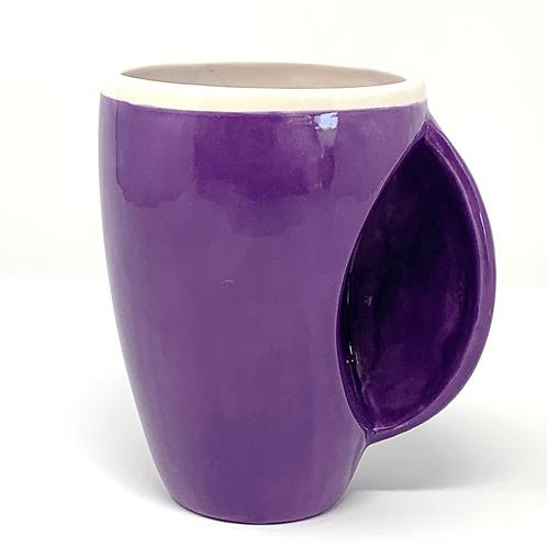 Deep Purple Hand Warmer Bubble Mug