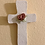 Thumbnail: White Bisque Wall Cross with Dusty Red Rose