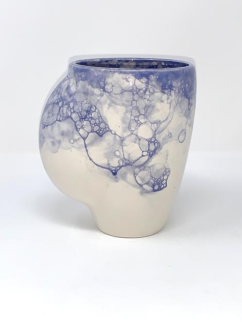 Beautiful Blue Bubble Hand Warmer Mug