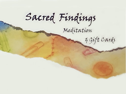 "(Set ""A"")       12 Sacred Findings Meditation & Gift Cards"