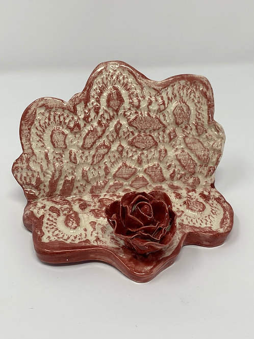 Rose Lace Cell Phone Holder