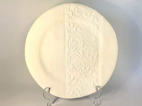 White Bisque Serving Plate / Platter