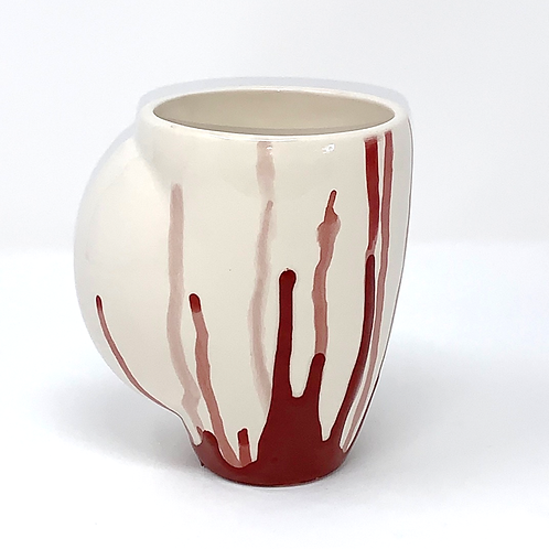 Brick Red Layered Hand Warmer Mug
