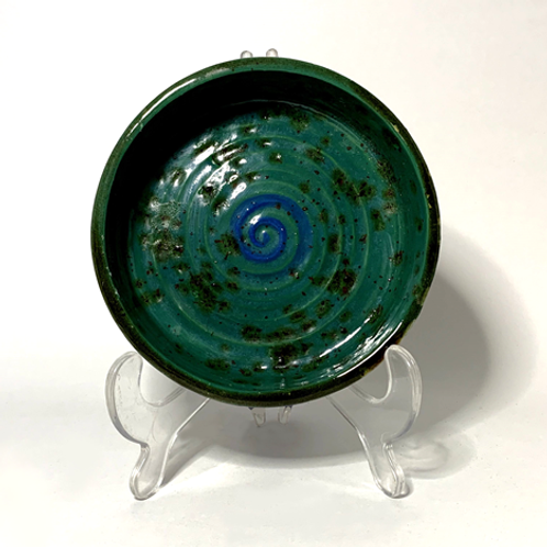 Black, Green and Blue Shallow Bowl