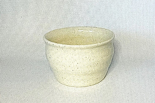 Small Soft White Glazed Bowl or Planter
