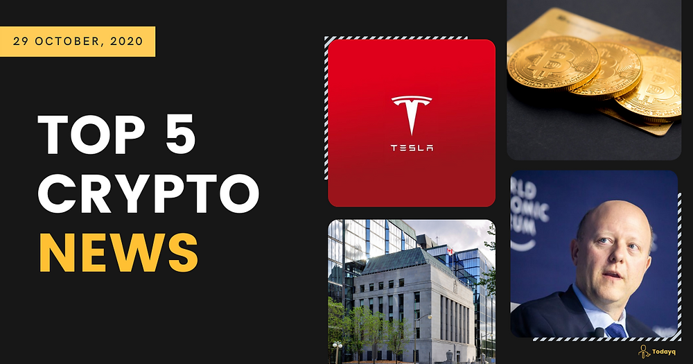 Top 5: Buying fractionalized Tesla stock using cryptocurrency to Bitcoin hitting 7 ounces of gold