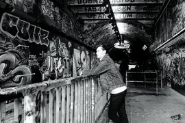Graffiti Railings B&W.jpg