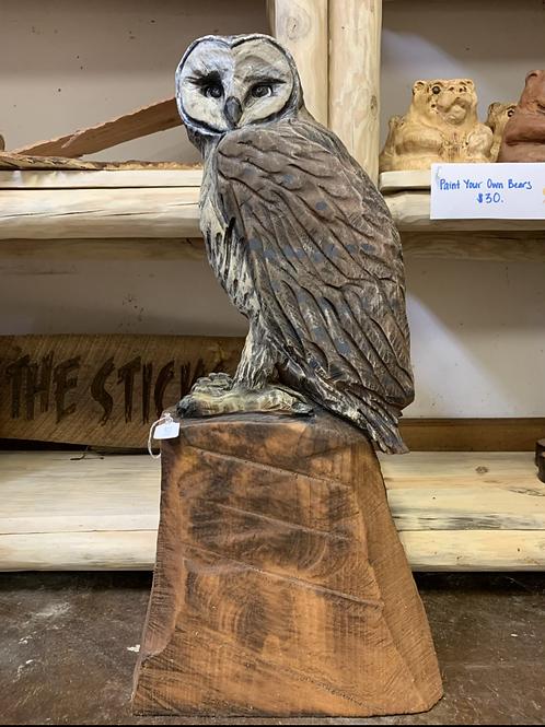 """30"""" Owl on Stump"""