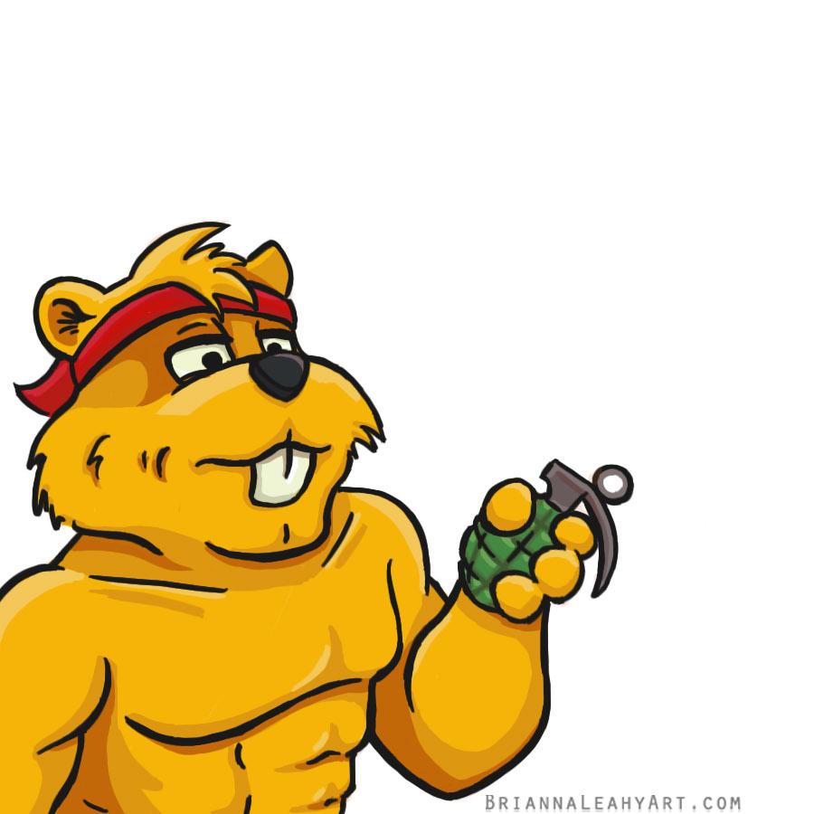 BriannaLeahyArt_commando_beaver