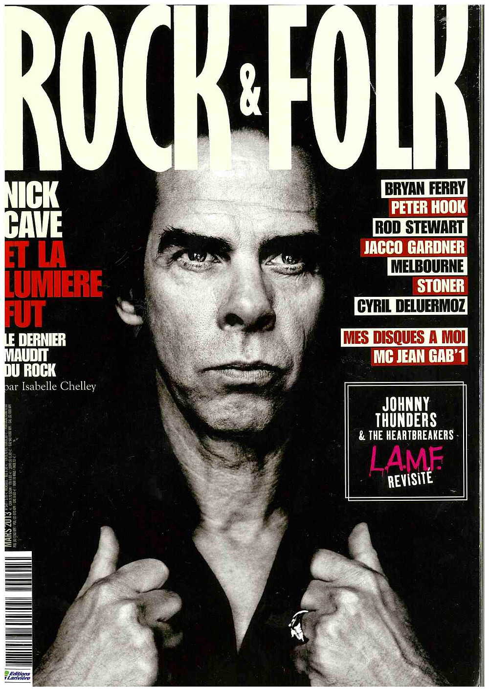 Rock & Folk Magazine March 2013 Nick Cave Cover