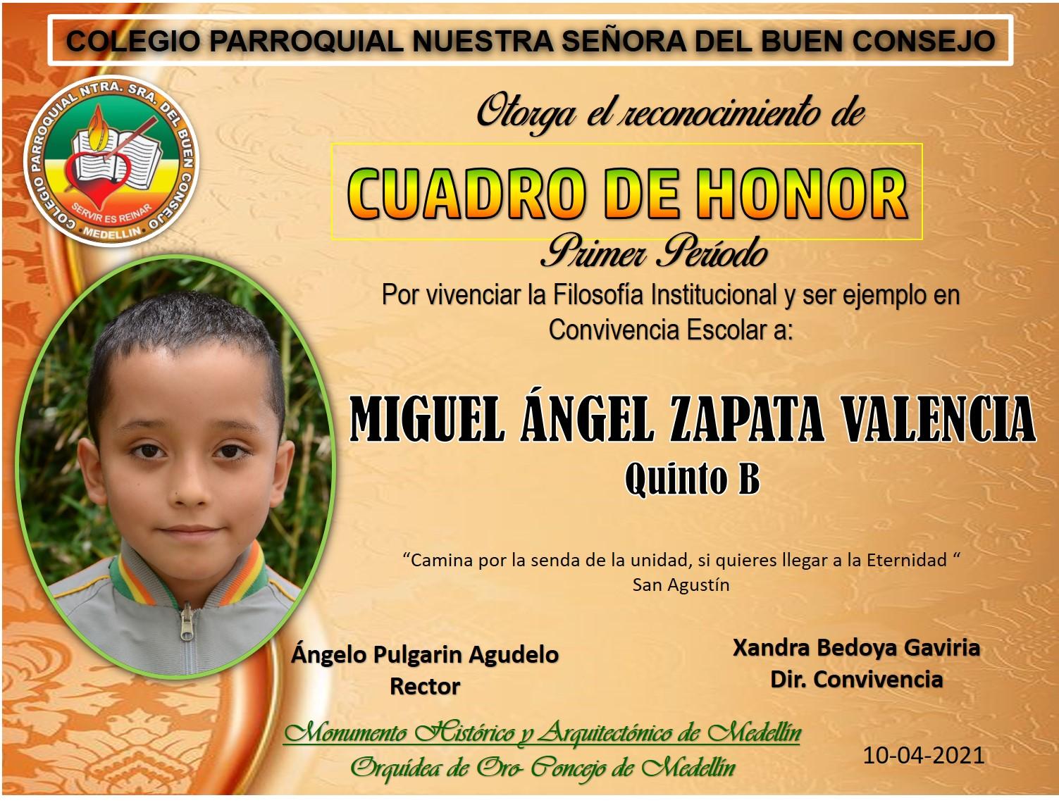 5°B MIGUEL ANGEL ZAPATA VALENCIA